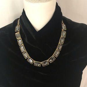 Lia Sophia Gray Smoke Versailles Crystal Necklace